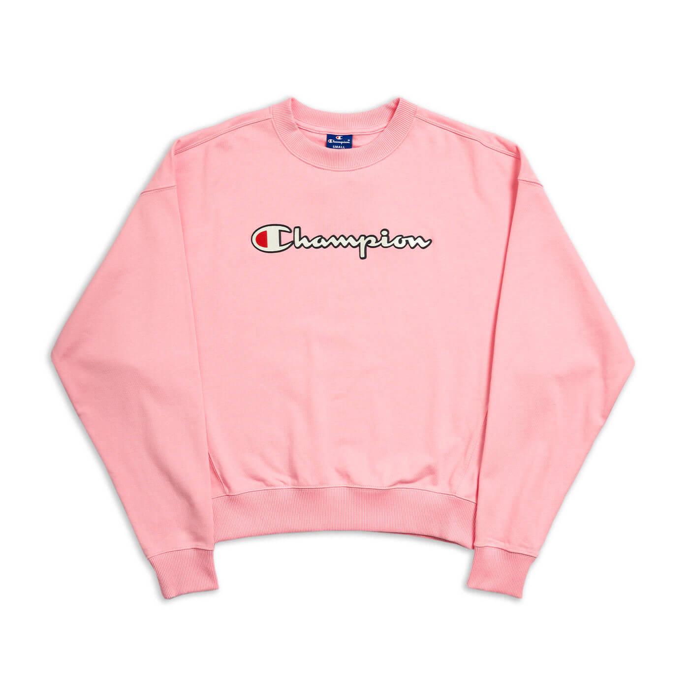 camisola de rapariga champion cor de rosa