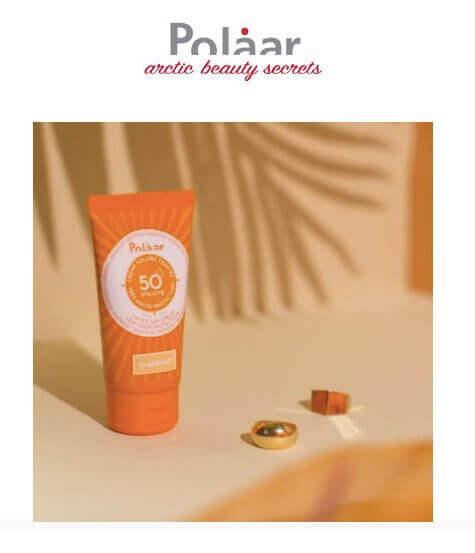 Protetor solar da polaar da perfumes & companhia
