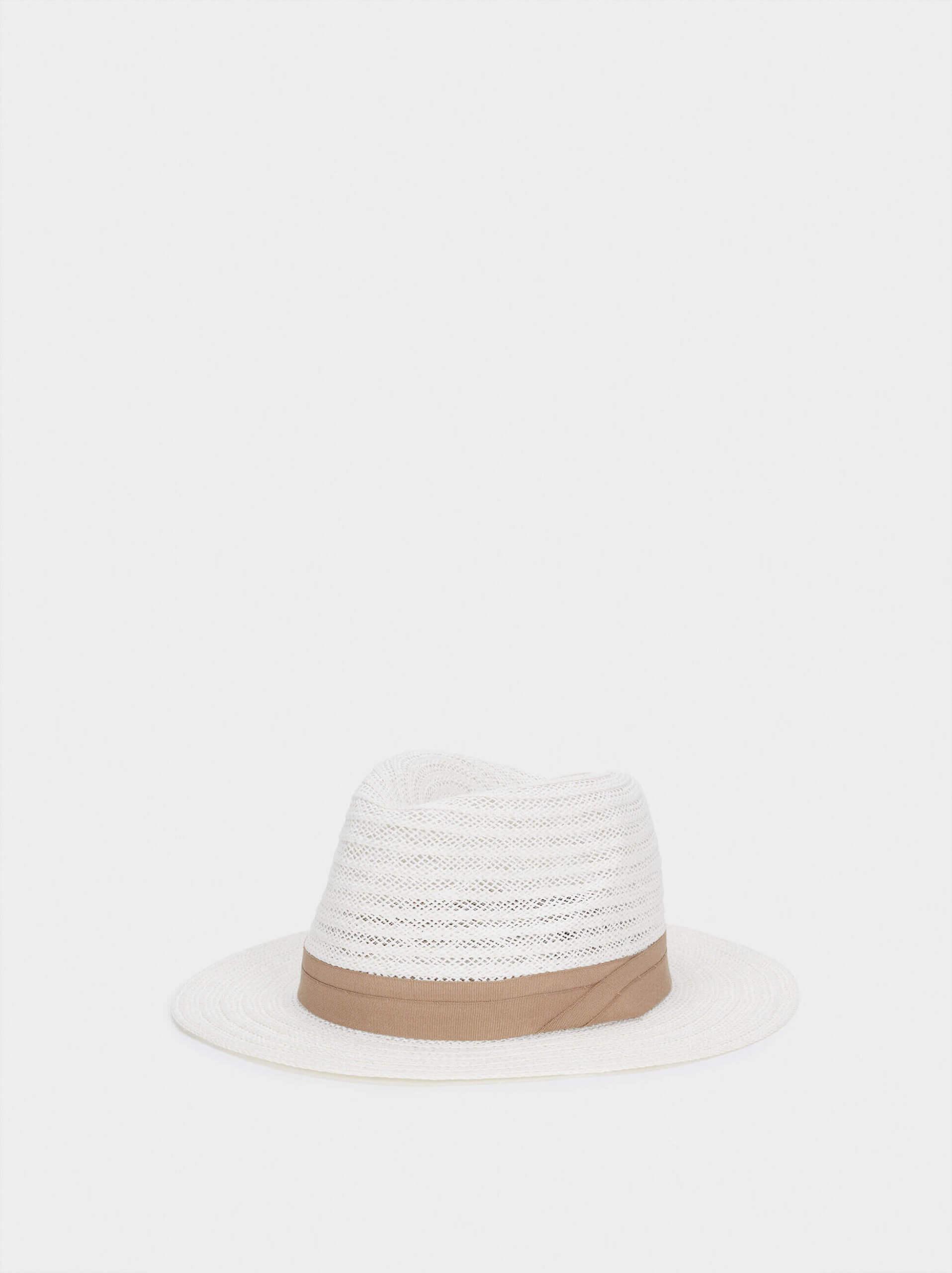 Chapéu com textura de ráfia da parfois