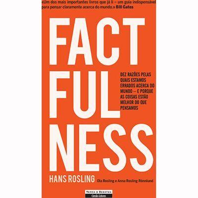 Capa do livro Factfulness de Hans Rosling